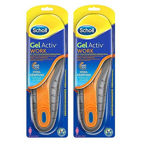 Einlegesohlen für Arbeitsschuhe 2 Paar für ganztägigen Komfort im Arbeitsalltag in Schuhgröße 35,5-40,5 Scholl GelActiv Work