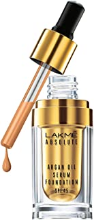 LAKME Absolute Argan Oil Serum Foundation, Natural Almond - 15 ml