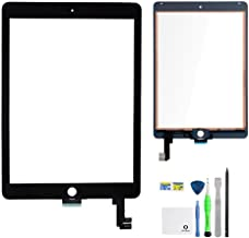 iPad Air 2 Screen Replacement,FixCracked iPad air 2 Digitizer Glass,Only for Professional Person,Not Include LCD, PreInstalled Adhesive with tools kit(A1566,A1567)-Black