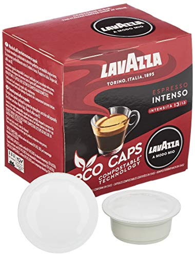 Lavazza A Modo Mio Eco Kaffeekapseln - Espresso Intenso - kompostierbar - 16 Kapseln - 1er Pack (1 x 120g)