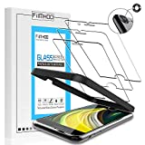 FilmHoo Screen Protector for Apple iPhone SE 2020,iPhone 8(4.7-Inch) Tempered Glass Film[3-Pack]+Camera Lens Protector [1-Pack][Easy Installation Alignment Tray][HD Clear] [Case Friendly]