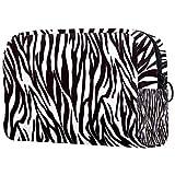 Borse da Toilette,Trama di strisce di zebra bianca nera ,make up borse da viaggio,Beauty Case da Viaggio,Cosmetici Trucco Pochette da Toilette Organizer