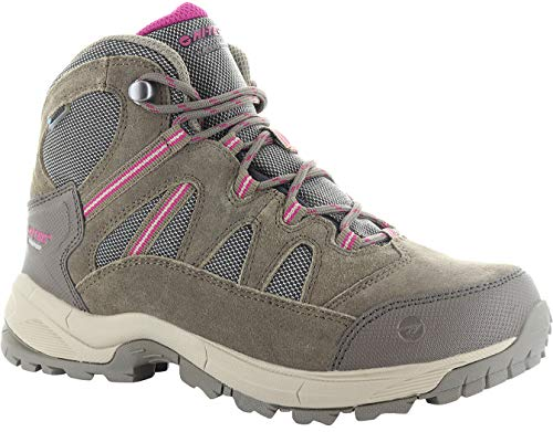 Hi-Tec Ladies Bandera Lite WP Taupe/Boysenberry Waterproof Hiking Walking Boots-UK 7 (EU 40)