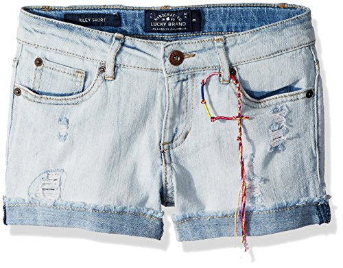 Lucky Brand Big Girls' 5-Pocket Cuffed Stretch Denim Short,...