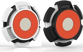 Hengyuan 2 pièces Housse en TPU Souple pour Apple AirTag, Coque de Protection Portable Anti-Rayures Housse étanche, Suppor...
