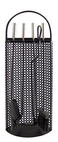 Imex El Zorro 10012 Juego para chimenea malla antigua (inox, 68 x 23 x 14 cm) útiles color negro