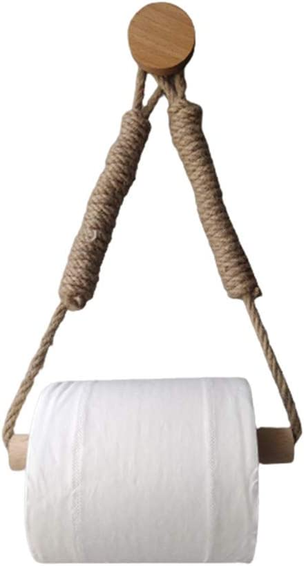 SIWEI Special Campaign Woven Hemp Wholesale Rope Wooden Roll Holder Toilet Paper Hol