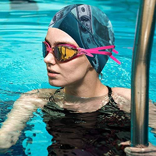 Badekappe für Erwachsene mit 3D-Druck und Hai-Motiv, wasserdicht, für Jugendliche