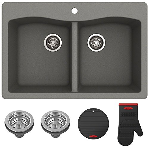 Kraus Forteza Granite Kitchen Sink, 33 Inch, KGD-52GREY