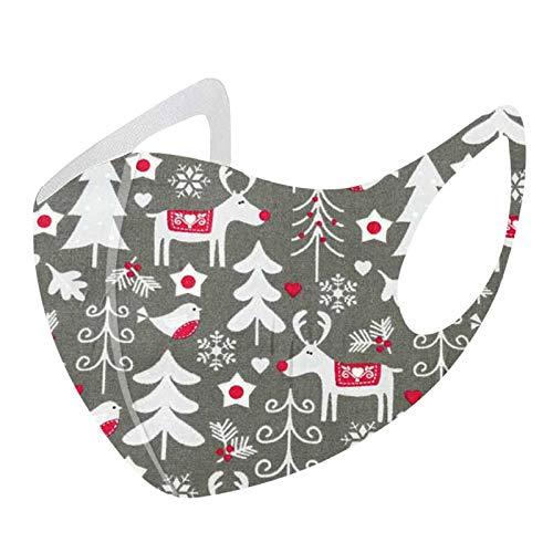 Bluelucon lenceria mujer 1 Toalla de Cubierta Lavable y Reutilizable de algodón de Seda de Hielo Impresa navideña