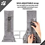 BuddyTastic Pet Sling Carrier Dog Bag | Reversible and Hands-Free | Adjustable Strap and Pocket | Comfortable Travel with Dog Cat Puppy | Up to 15 lbs 10