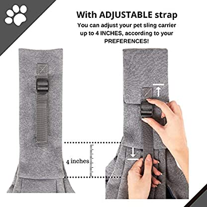 BuddyTastic Pet Sling Carrier Dog Bag | Reversible and Hands-Free | Adjustable Strap and Pocket | Comfortable Travel with Dog Cat Puppy | Up to 15 lbs 4