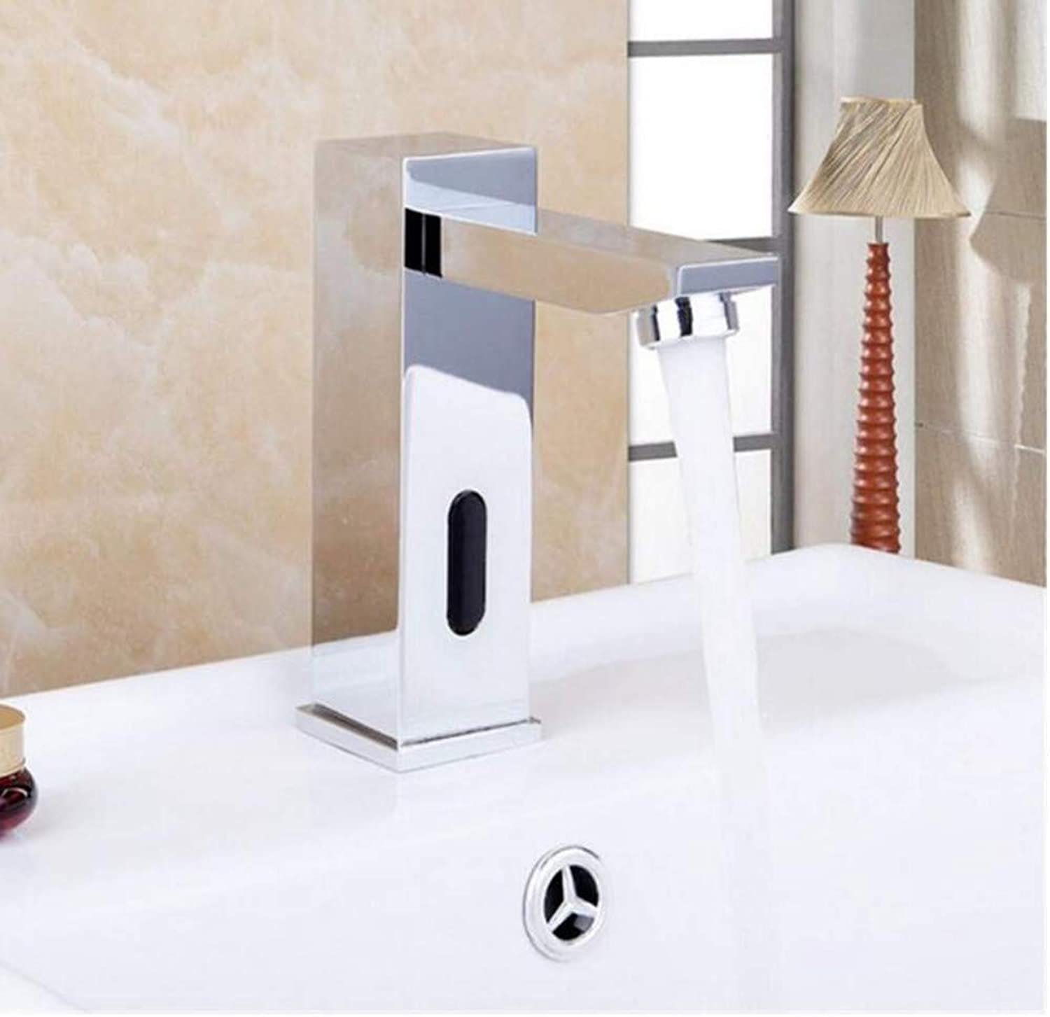 Modern Double Basin Sink Hot and Cold Water Faucetsensor Faucet Bathroom Basin Sink Faucet