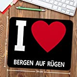 Mousepad Bergen auf Rügen personalisiert – Motiv I Love – Städtemousepad, personalisiertes Mauspad, Gaming-Pad, Maus-Unterlage, Mausmatte - 2