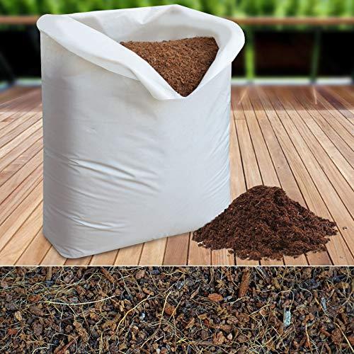 Kokoserde lose - Sack mit 20l Kokossubstrat - torffrei & ohne Dünger - Kokosblumenerde Pflanzerde Anzuchterde Aussaaterde Gartenerde - Alternative zu Rindenmulch - Kokos Einstreu für Terrarium