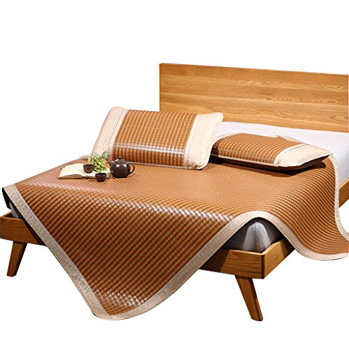 shi xiang shop Enfriamiento de Verano Estera Plegable Colchón de Aire Acondicionado Suave Almohadilla de colchón de enfriamiento colchón (Color : Marrón, tamaño : 0.9m Bed)
