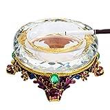LYQZ Cenicero de aleación de Cristal cenicero for Regalos de artesanía de Sala de Estar Personalidad (Color : A)