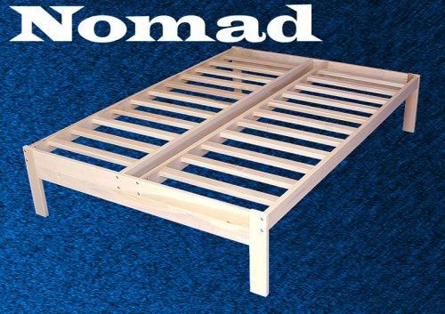 Full Size Nomad Platform Bed Frame - Solid Hardwood