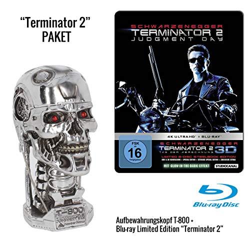 "Terminator 2: Judgment Day (Limited 3-Disc Steelbook Edition, Blu-ray + 4K Ultra HD) + Aufbewahrungsbox ""T-800 Metall-Head"""