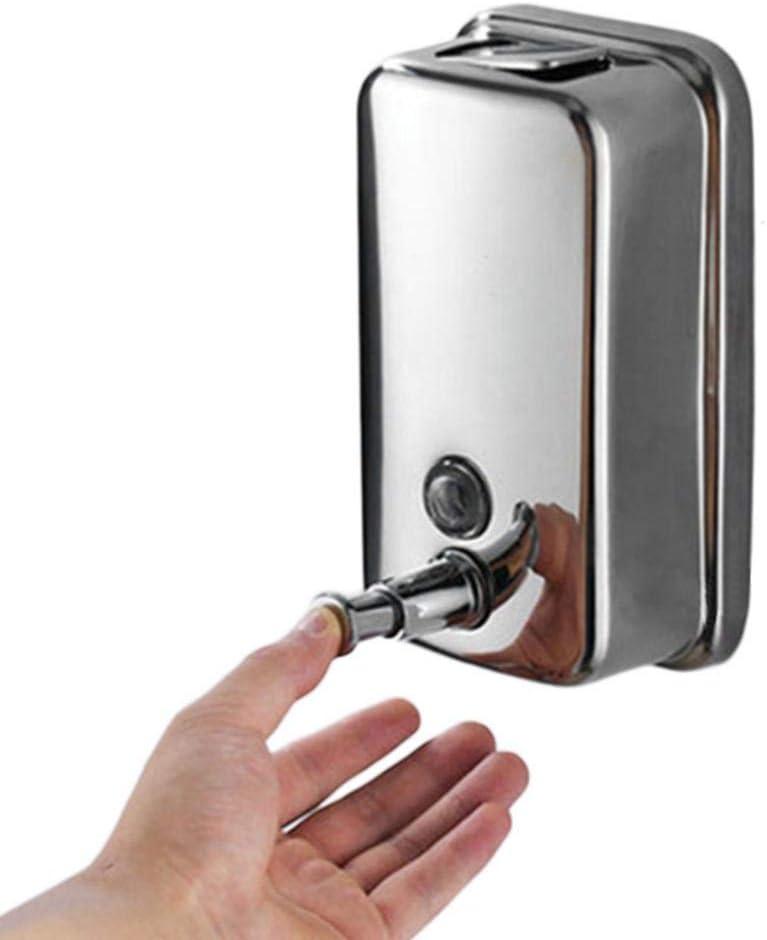 DJYTHLT 500/800/1000ML Kitchen Bathroom Wall Mounted Stainless Steel Pump Soap Shampoo Dispenser-1000ml