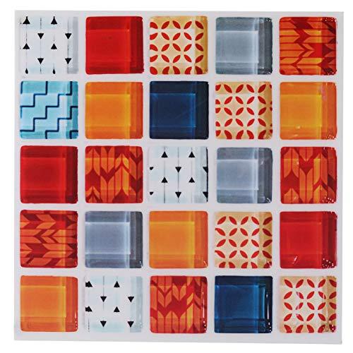 Jiawu Adhesivo de Mosaico, Adhesivo Autoadhesivo para Pared, Adhesivo extraíble para Azulejos, Adhesivo para Pared, 6 Piezas Autoadhesivas para baño de Cocina(FX715)