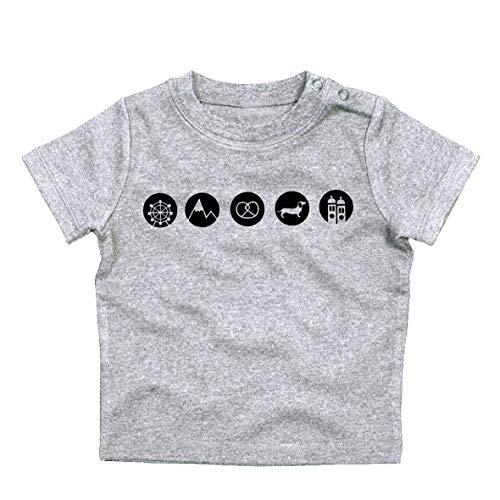Baby T-Shirt >MUC DOTS< / Unisex, München, Bayern, Ostern, Easter, Geburt, Geschenk, Geburtstag, Birthday, Baby Shower, Geburt