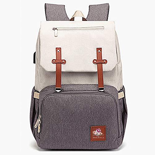 SMILEYBOO Wickeltasche Rucksack - Wasserdichte Unisex Baby Tasche - Multi Taschen...