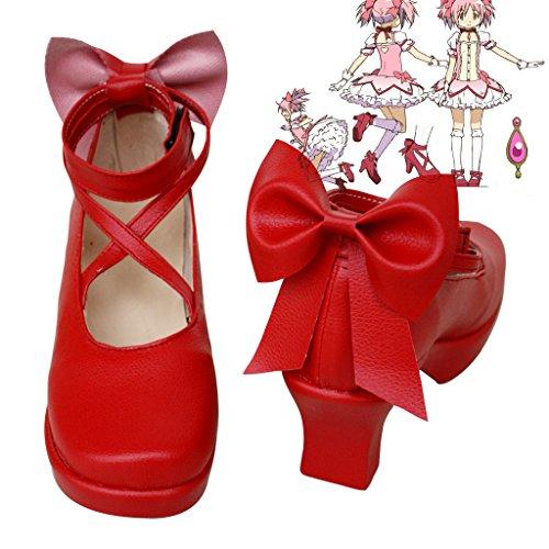 Puella Magi Madoka Magica Cosplay Schuhe Stiefel Custom Made rot, Herren, rot