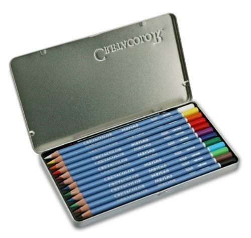 Cretacolor Marino Lightfast Watercolor Pencils Set of 12 - Assorted Colors