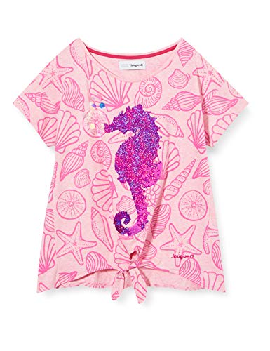 Desigual TS_Aberdeen Camiseta, Rosa (Rosa Helado 3021), 152 (Talla del Fabricante: 11/12)...
