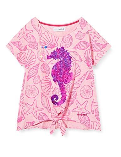 Desigual TS_Aberdeen Camiseta, Rosa (Rosa Helado 3021), 104 (Talla del Fabricante: 3/4)...