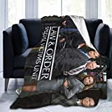 Needlove Ultra Soft Flannel Throw Blanket 20 Years Strong - Law & Order SVU 60'x50' Warm Blanket for Adult