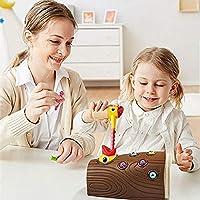 FECHO Picchio Giocattolo educativo precoce Picchio Magnetico Che Cattura Insetti Giocattolo Sviluppa coordinazione Occhio-Mano e abilità motorie Fini - Regalo di Compleanno per Bambini di età 2-4 #2