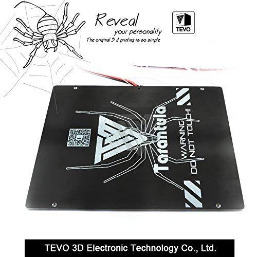 TEVO Tarantula Heizbett, große Baufläche, 220 x 280 x 3,5 mm, schwarzes Aluminium-Heizbett, 3D-Druck, Heizbett, Heizplatte für 3D-Drucker-Teil