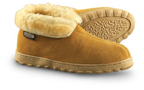 Guide Gear Men's 10' Suede Boot Slippers, Cinnamon, 9D (Medium)