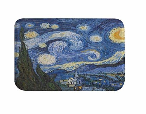 A.Monamour De La Noche Estrellada Alfombra De La Estera del Baño De La Franela De La Franela De La del Arte De La Pintura Al Óleo De Vincent Van Gogh para Los De La Ducha del Cuarto De Baño
