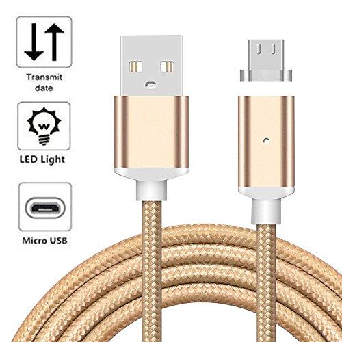 YANSHG Magnetische USB-Mikro-Kabel (10/6 ft/3,3 ft) Nylon mit schnellem Quick Sync Datenkabel für Samsung Galaxy S6 S7 Note 3/4/5, LG, Nexus, Nokia und mehr Android Devices