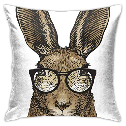 Not Applicable Kissenbezug, süßer Osterhase mit Brille Gife Kissenbezug 45x45cm