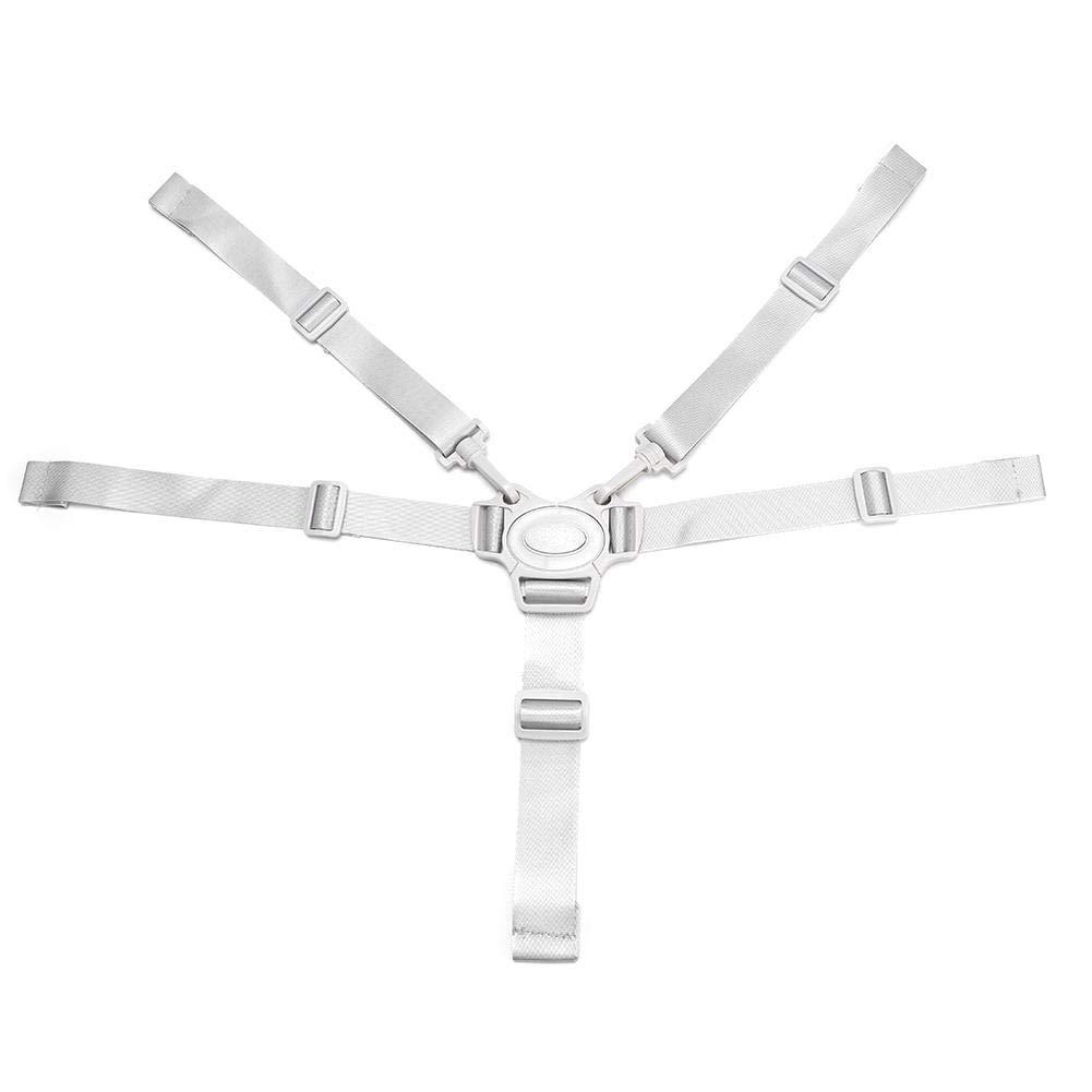 Baby 5 Point Harness Belt Universal Pushchair Children Seat Safety Belt High Chair Straps Protector Safety Strap (Grey)
