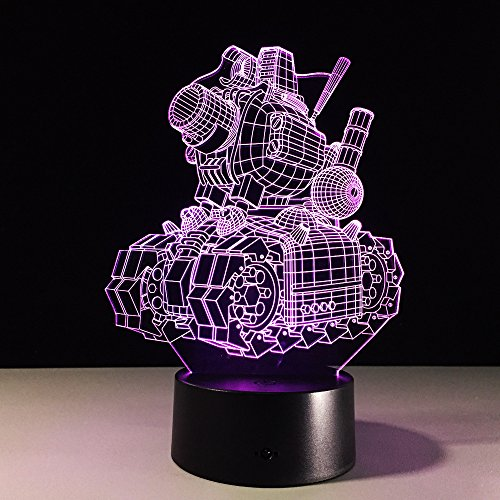 DFDLNL Vehículos Blindados 3D Night Ligh con 7 Colores de luz para la lámpara de decoración del hogar Increíble ilusión óptica acrílico Led 3D lámpara de Mesa