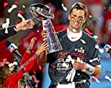 Tom Brady Tampa Bay Buccaneers Super Bowl LV Champions 8 x 10 Photo With Lombardi Trophy