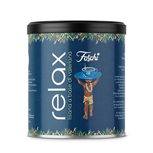 Tisana Relax a base di valeriana, mix di erbe sfuse per tisane e infusi, confezione da 150g Foschi