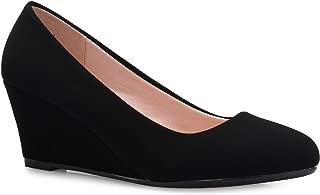 Women's Adorable Low Wedge Heel Shoe - Easy Low Pumps -...