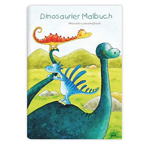 Kinder lieben Ausmalen! - Malbuch DIN A4, ab 3 Jahre, Dinosaurier für Jungen und Mädchen