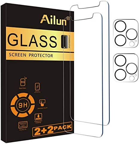Ailun 2 Pack Screen Protector Compatible for iPhone 12 Pro Max 6 7 inch 2 Pack Camera Lens Protector product image