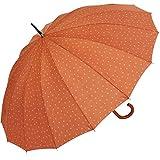 INVIERNO - Paraguas mujer largo de 61cm Bisetti topos-triángulos