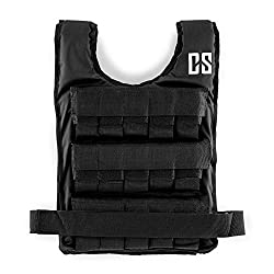 Capital Sports Monstervest or Beastvest - weight vest, fitness vest, strength & endurance training, removable metal weights, adjustable nylon belt, 5, 10, 15, 20, 25 or 30 kg, black