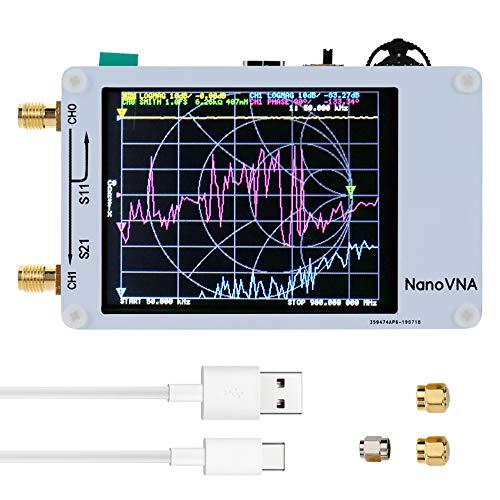 KKmoon NanoVNA Mini Vector Network Analyzer 50KHz-900MHz 2.8 Inch Digital LCD Display Touching Screen HF VHF UHF Antenna Analyzer Standing Wave Measuring Instrument (Basisversion)