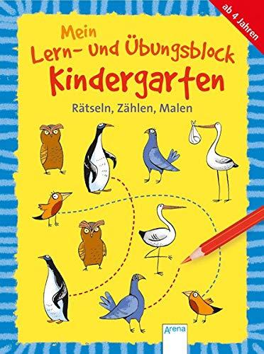 Mein Lern- und Übungsblock Kindergarten. Rätseln, Zählen, Malen