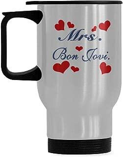 High Grade Mrs. Bon Jovi Custom Sliver Mug Stainless Steel Material
